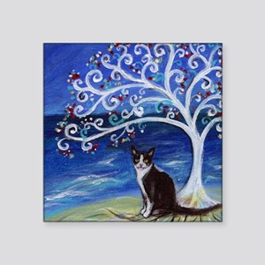Tuxedo Cat Tree of Life Sticker
