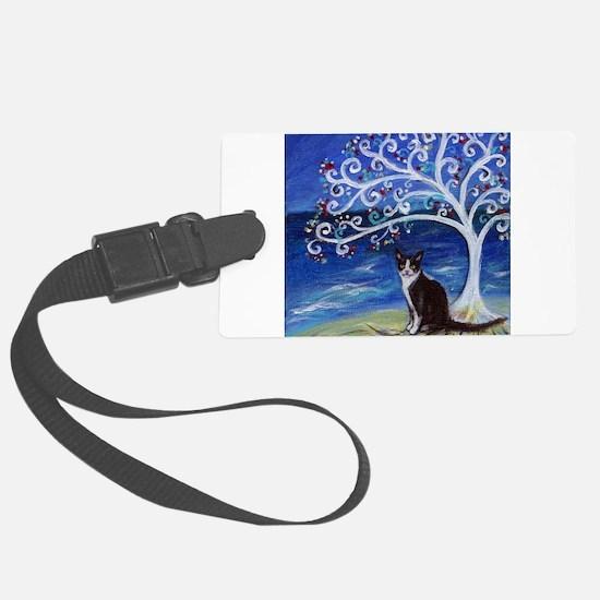 Tuxedo Cat Tree of Life Luggage Tag