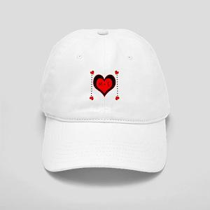 Cascading Hearts Monogram Baseball Cap