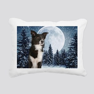 Border Collie Rectangular Canvas Pillow