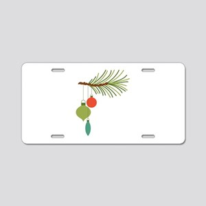 Christmas Tree Ornaments Aluminum License Plate