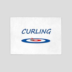 Curling 5'x7'Area Rug