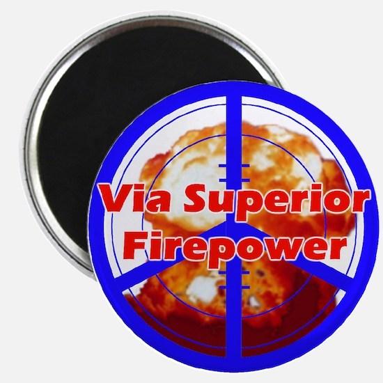 Peace via Superior Firepower Magnet