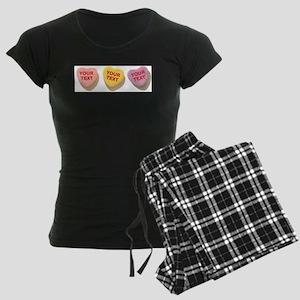3 Candy Hearts CUSTOM TEXT Pajamas