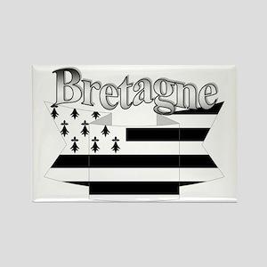 Bretagne Brittany flag Rectangle Magnet