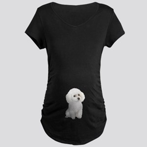 Poodle (MinW2) Maternity Dark T-Shirt