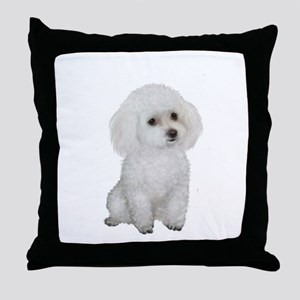 Poodle (MinW2) Throw Pillow