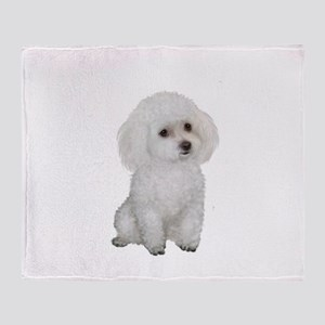 Poodle (MinW2) Throw Blanket