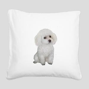 Poodle (MinW2) Square Canvas Pillow