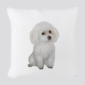 Poodle (MinW2) Woven Throw Pillow
