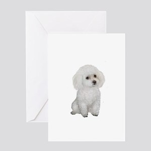 Poodle (MinW2) Greeting Card