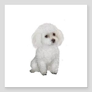 """Poodle (MinW2) Square Car Magnet 3"""" x 3"""""""
