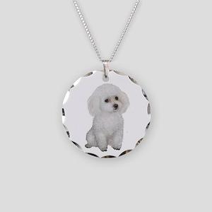 Poodle (MinW2) Necklace Circle Charm
