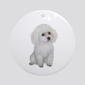 Poodle (MinW2) Ornament (Round)