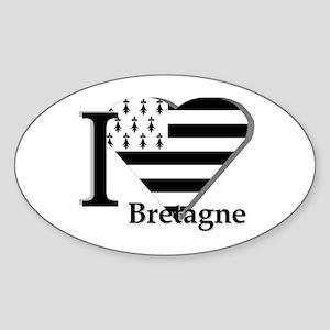 I love Bretagne Oval Sticker