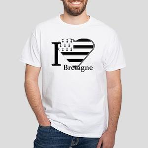I love Bretagne White T-Shirt