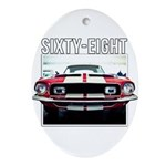 68 Mustang Ornament (Oval)