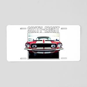 68 Mustang Aluminum License Plate