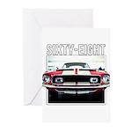68 Mustang Greeting Cards