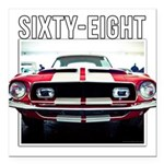 68 Mustang Square Car Magnet 3