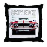 68 Mustang Throw Pillow