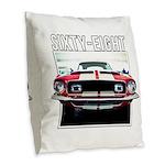 68 Mustang Burlap Throw Pillow