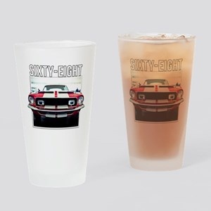 68 Mustang Drinking Glass