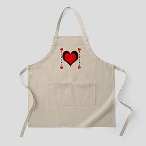 Cascading Hearts Monogram Apron