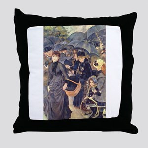 The Umbrellas Throw Pillow