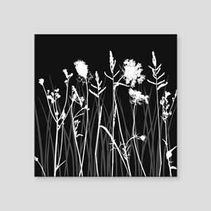"Elegant Grass Silhouette Square Sticker 3"" x 3"""
