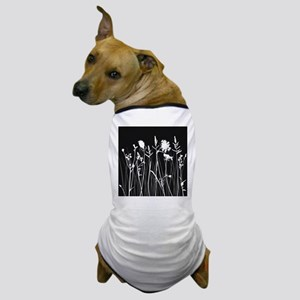 Elegant Grass Silhouette Dog T-Shirt