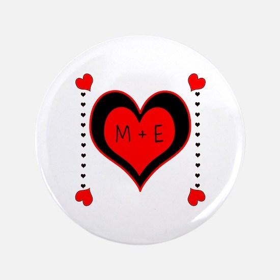 """Cascading Hearts Monogram 3.5"""" Button"""