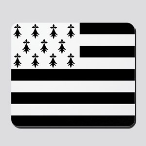 Brittany flag Mousepad