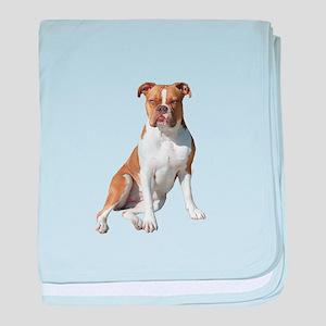 Am Bulldog 2 (Brn-W) baby blanket