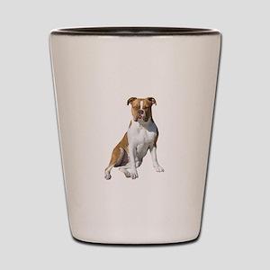 Am Bulldog 2 (Brn-W) Shot Glass