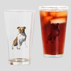 Am Bulldog 2 (Brn-W) Drinking Glass