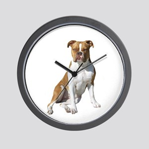 Am Bulldog 2 (Brn-W) Wall Clock