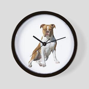 Am Bulldog 2 (Brn-W) Wall Clock