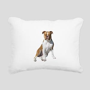 Am Bulldog 2 (Brn-W) Rectangular Canvas Pillow