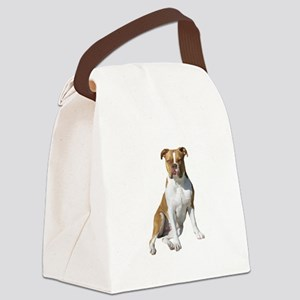 Am Bulldog 2 (Brn-W) Canvas Lunch Bag