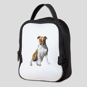 Am Bulldog 2 (Brn-W) Neoprene Lunch Bag
