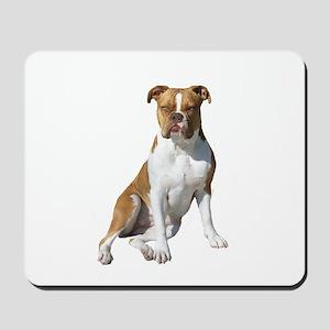 Am Bulldog 2 (Brn-W) Mousepad