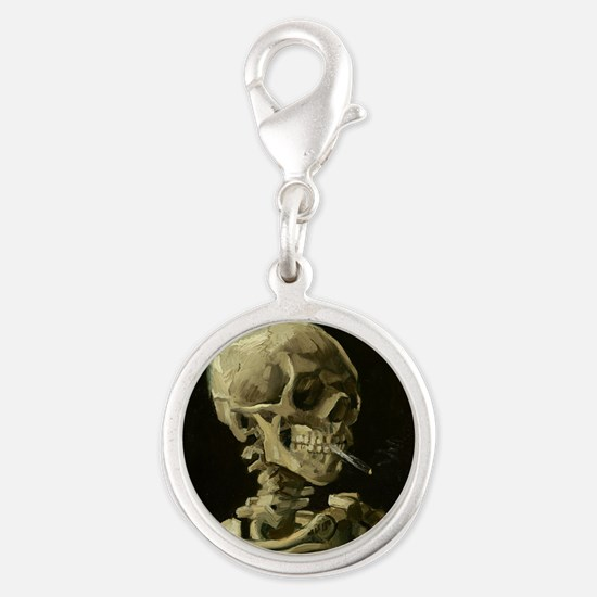 Skull of a Skeleton with Burning Cigarette Charms