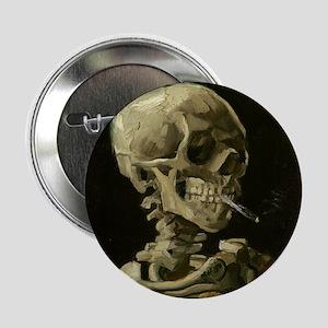"Skull of a Skeleton with Burning Cigarette 2.25"" B"