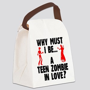 Teen Zombie In Love Canvas Lunch Bag
