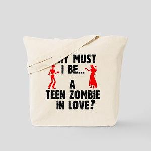 Teen Zombie In Love Tote Bag