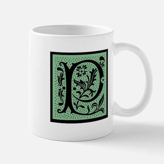 Green Fleur Monogram P Mug