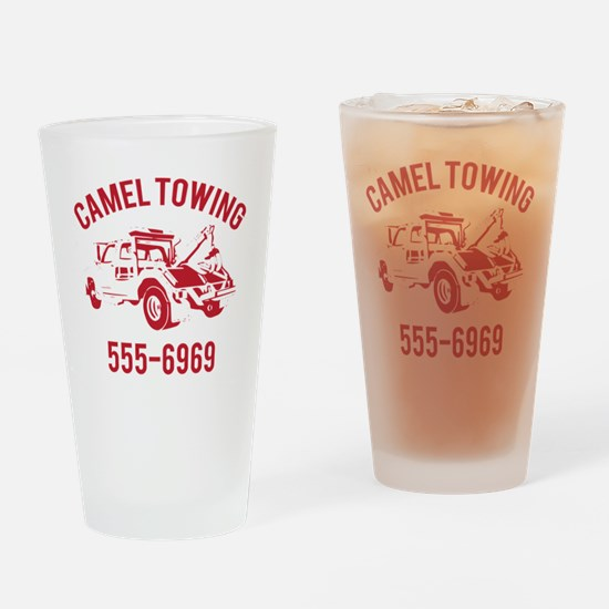 Cute Tow truck Drinking Glass