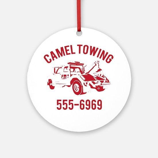 Cute Tow truck Round Ornament