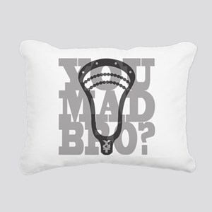 Lacrosse YouMadBro Rectangular Canvas Pillow